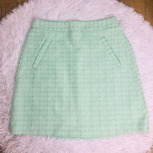 The Limited Mint Green Jacquard Print Skirt Size 0